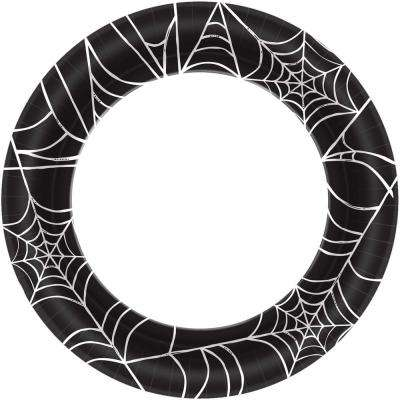 10 in. x 10. in. Spider Web Round Paper Plate (40-Count, 4-Pack)