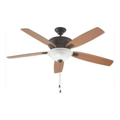Trafton 60 in. LED Indoor Oil Rubbed Bronze Ceiling Fan with Light Kit