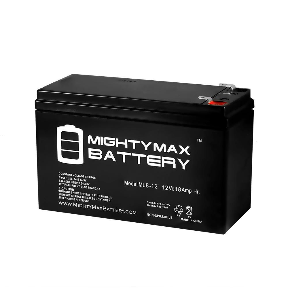 12-Volt 8 Ah Sealed Lead Acid (SLA) Rechargeable Battery