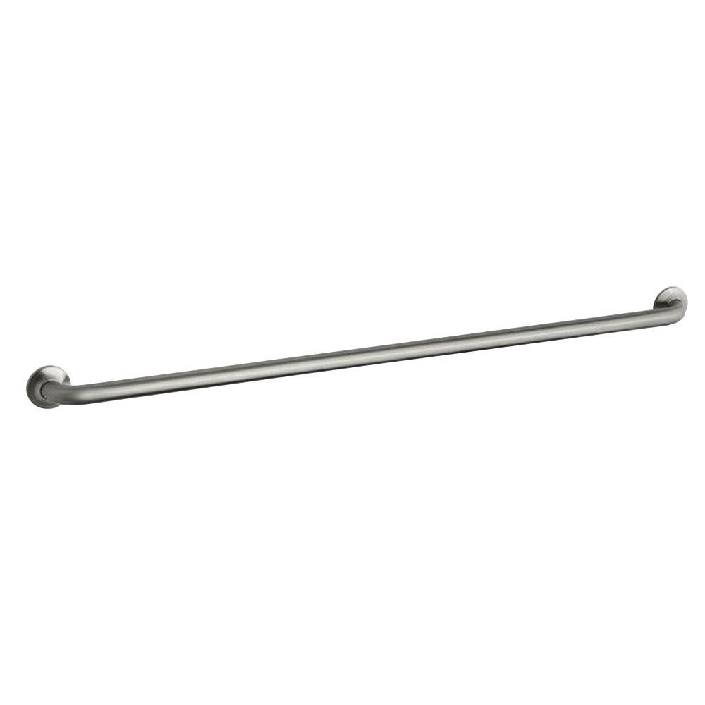 KOHLER Transitional 50-13/16 in. x 1-1/4 in. Screw Grab Bar in Brushed Stainless