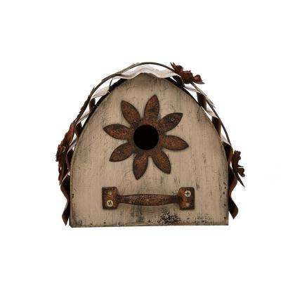7.09 in. L Distressed Solid Wood Birdhouse