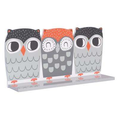 Olive Owl 18 in. W x 4 in. D Decorative Wall Shelf