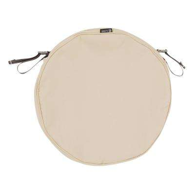 Montlake Fade Safe Antique Beige 18 in. Round Outdoor Seat Cushion Cover