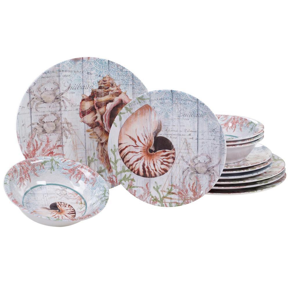 Certified International Sanibel 12-Piece Multicolor Dinnerware Set 89490RM