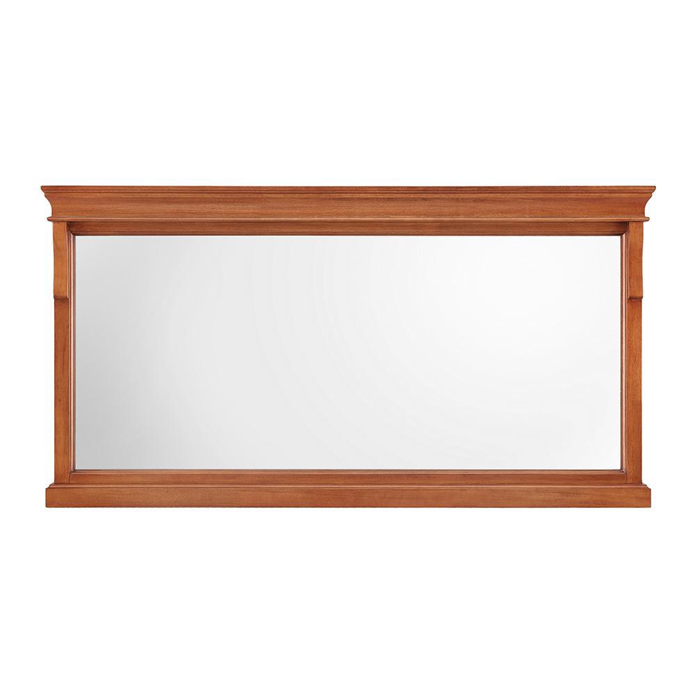 Naples 60 in. W x 31 in. H Single Framed Wall Mirror in Warm Cinnamon