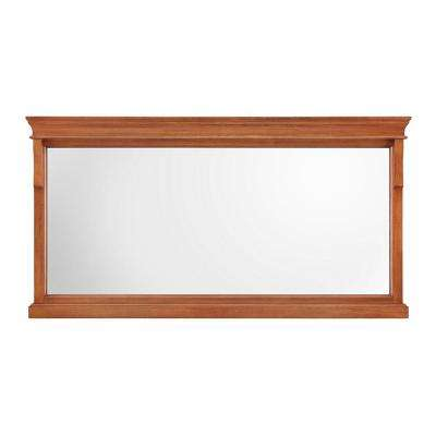 Naples 60 in. W x 31 in. H Single Framed Wall Mirror in Warm Cinnamon