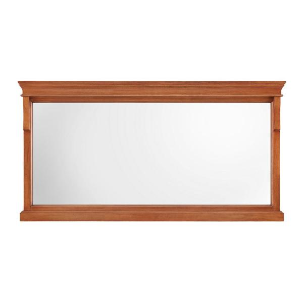 60 in. W x 31 in. H Framed Rectangular  Bathroom Vanity Mirror in Warm Cinammon