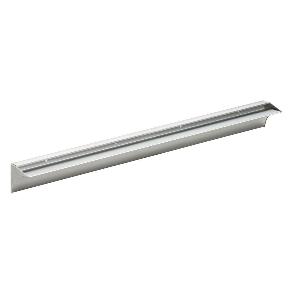 Rail 31-1/2 in. L Shelf Bracket Set in Silver