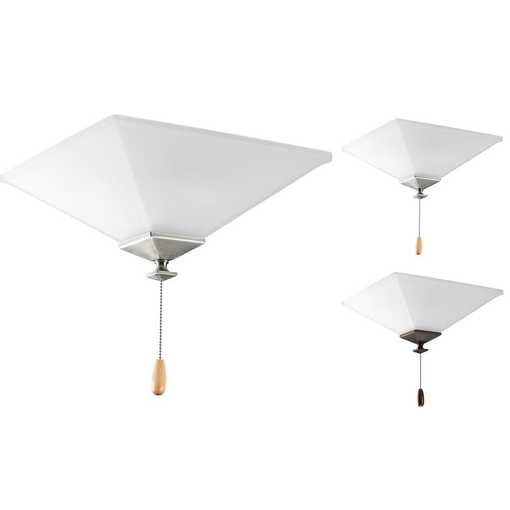 Progress Lighting North Park Collection 2-Light Unfinished Ceiling Fan Light Kit