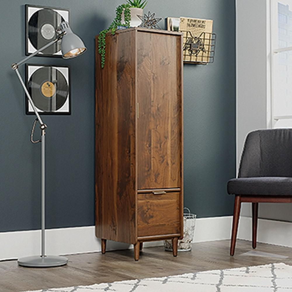 Sauder Clifford Place Grand Walnut Storage Cabinet With File 421318