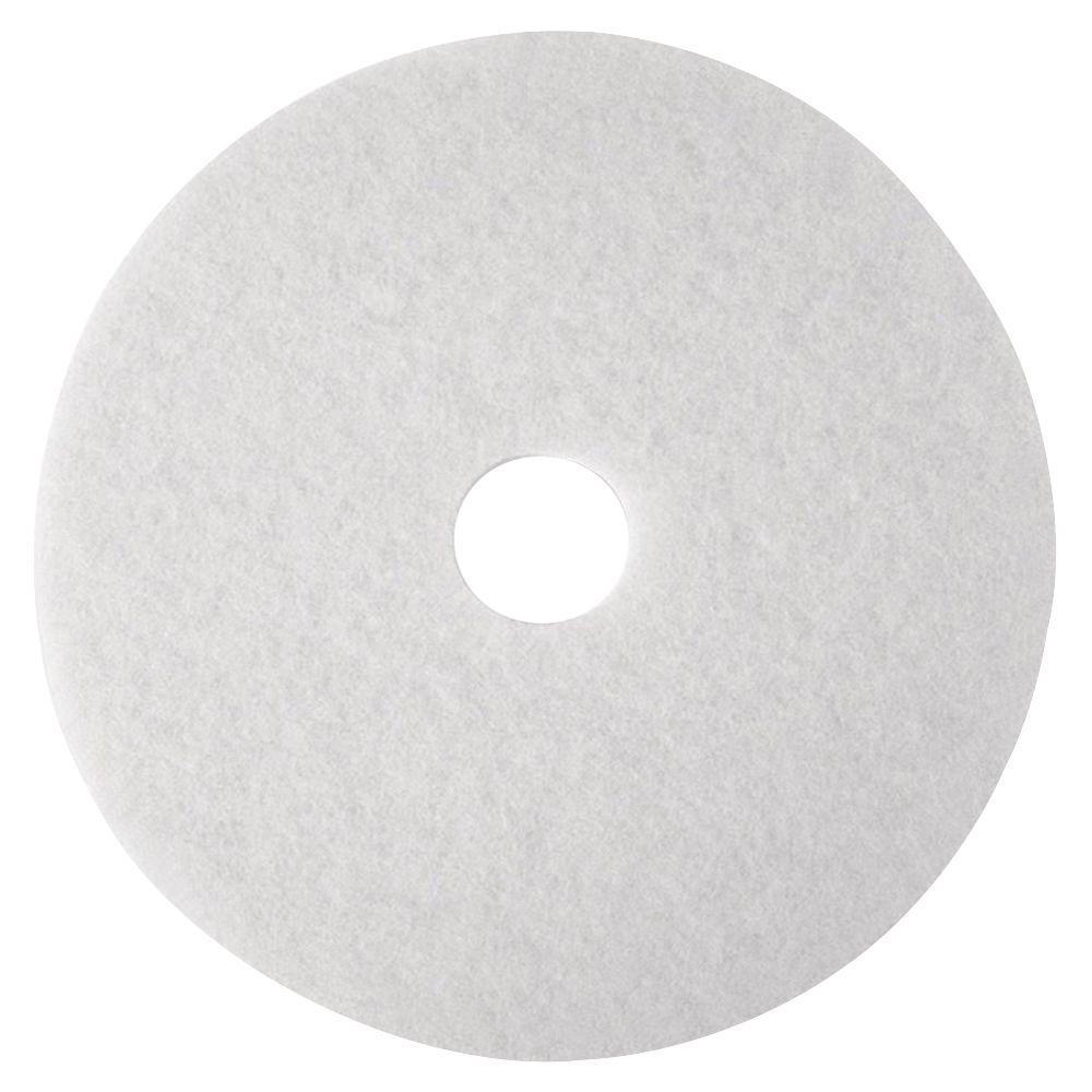 17 in. White SuPer Polish Pads (5 Per Carton)