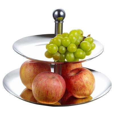 Stainless Steel Two Tier Decorative Stand