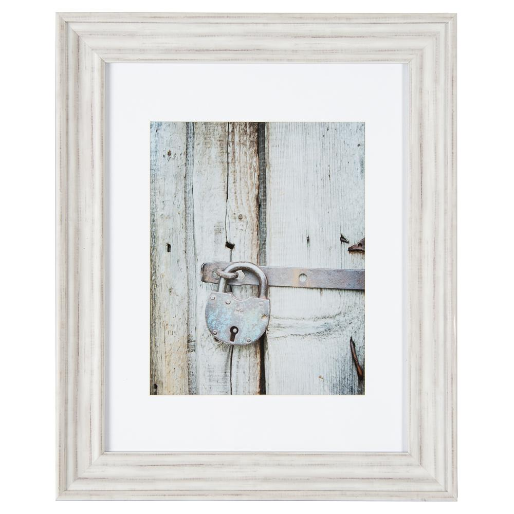 3d42f510341e +7. Pinnacle Gallery Perfect 11 in. x 14 in. Distressed White Collage  Picture Frame Set