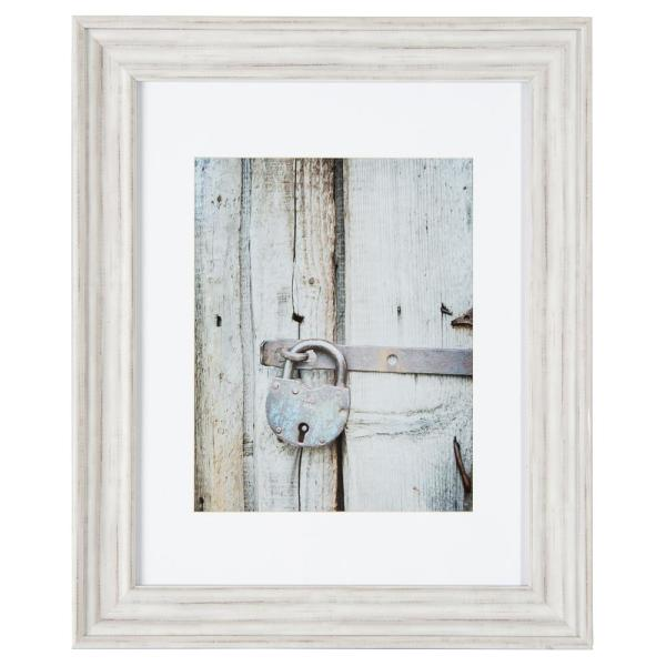 Pinnacle Gallery Perfect 11 In X 14 In Distressed White