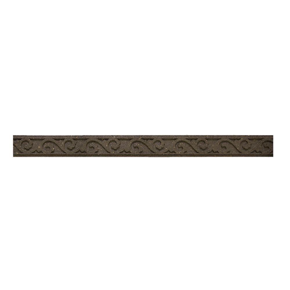 Flexi Curve 4 ft. Earth Scroll Rubber Garden Edging (40-Pack)