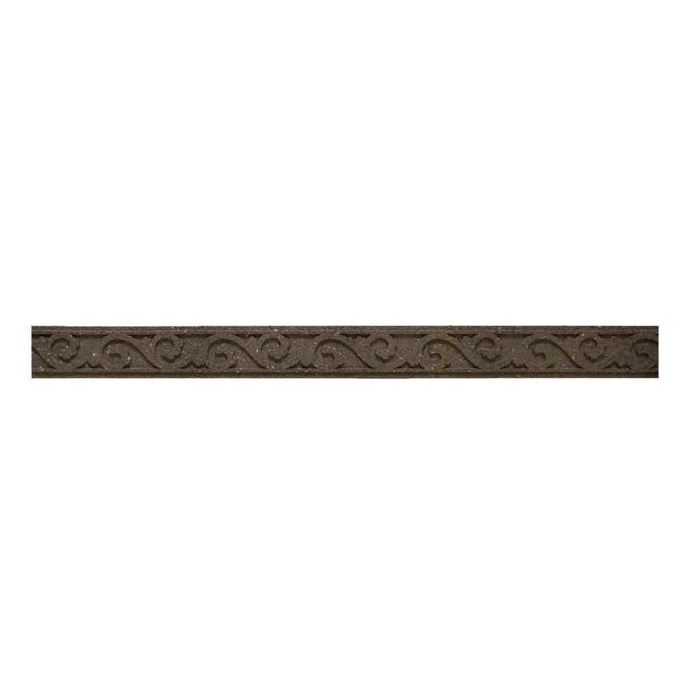 Multy Home Flexi Curve 4 Ft Earth Scroll Rubber Garden Edging 1ea