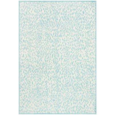 Marbella Ivory/Turquoise 4 ft. x 6 ft. Area Rug
