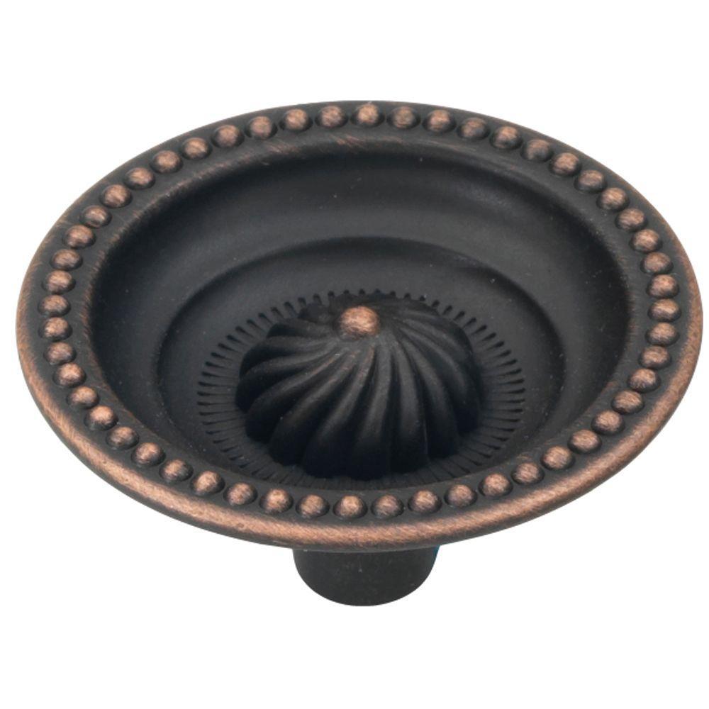 Roma 1-1/2 in. Vintage Bronze Cabinet Knob