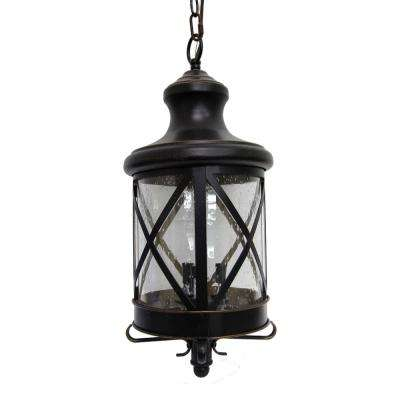 Taysom 3-Light Oil-Rubbed Bronze Outdoor Hanging Lantern