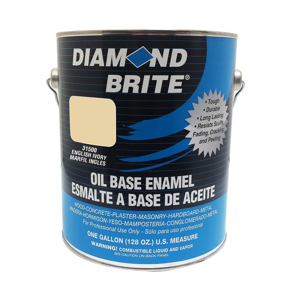 Diamond Brite Paint 1 gal. English Ivory Oil Base Enamel Interior/Exterior Paint