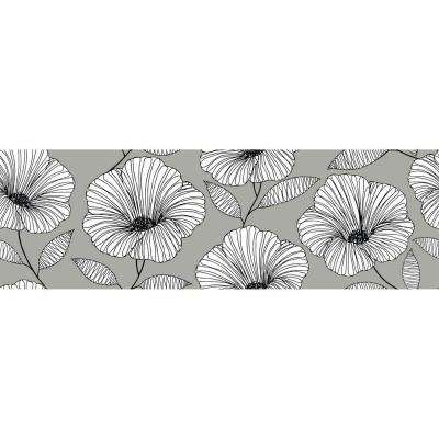6.5 in. x 144 in. Moon Flower Stair Stripe Decal