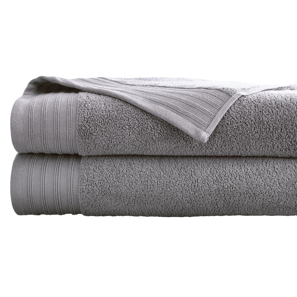 Bath Sheets Oversized: Oversized Quick Dry Bath Sheets In Gray Violet (2-Pack