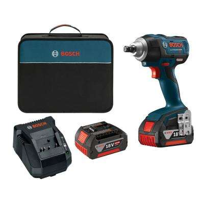 18-Volt Lithium-Ion Cordless EC Brushless 1/2 in. Square Drive Impact Wrench Kit