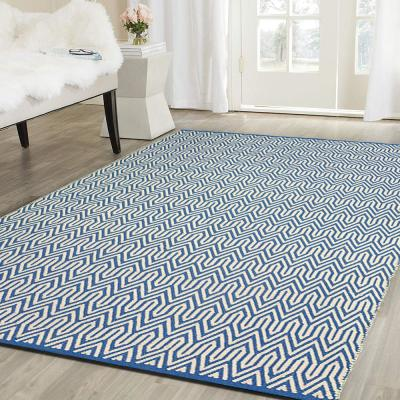 Inside-Out Blue 5 ft. x 8 ft. Indoor/Outdoor Area Rug