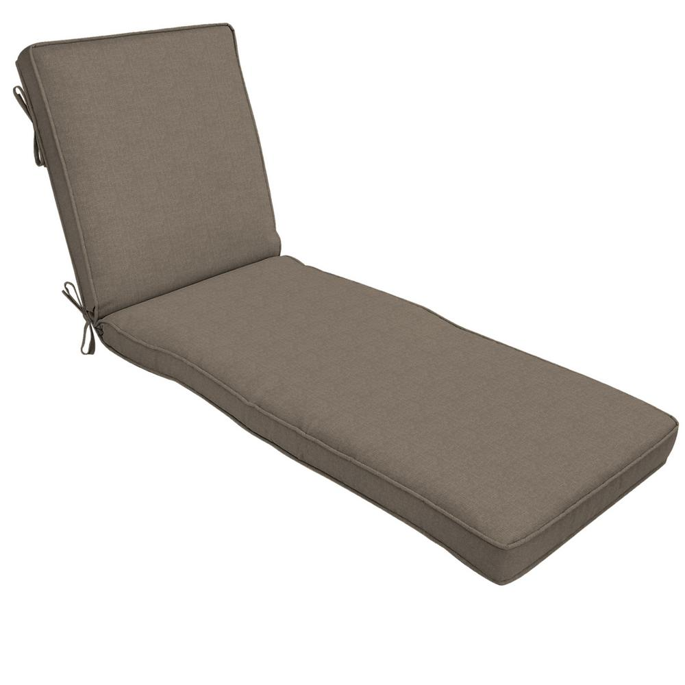 22 x 49 Outdoor Chaise Lounge Cushion in Sunbrella Cast Shale