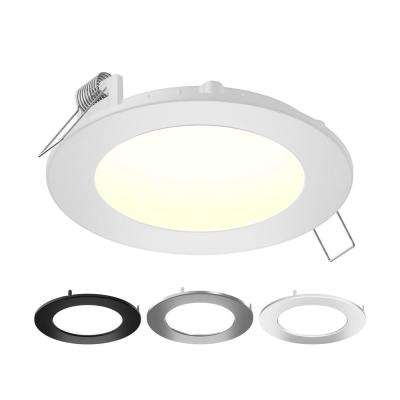 6 in. Color Selectable New Construction or Remodel IC Rated Recessed Integrated LED Round Kit