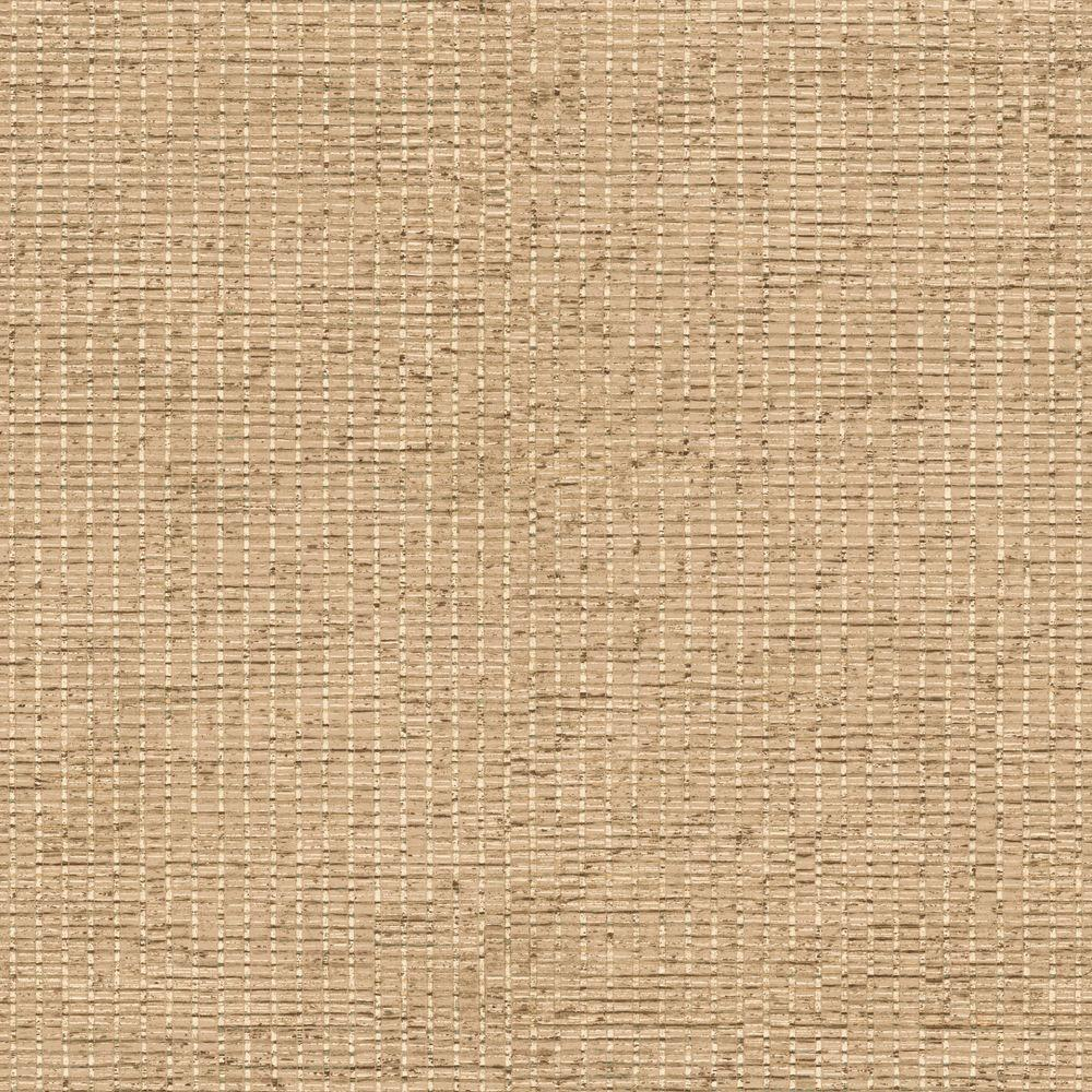 The Wallpaper Company 8 in. x 10 in. Tan Bamboo Textured Wallpaper Sample