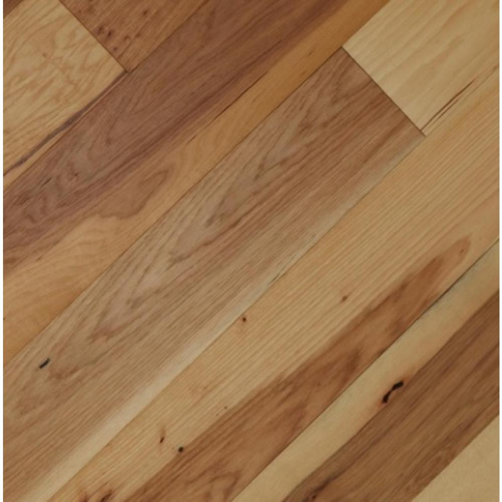 Home Legend Take Home Sample - Wire Brushed Camel Hickory Click Lock Exotic Engineered Hardwood Flooring - 5 in. x 7 in.