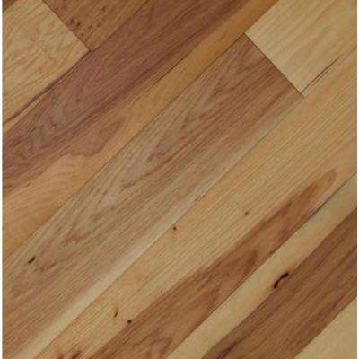Take Home Sample - Wire Brushed Camel Hickory Click Lock Exotic Engineered Hardwood Flooring - 5 in. x 7 in.