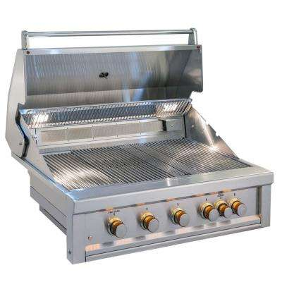 Ruby 5 Pro-Sear 42 in. Burner Built-In Gas Grill with Infrared and Rotisserie Rod - Propane Only
