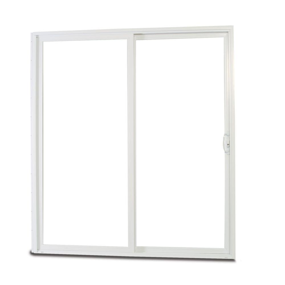 American Craftsman 72 in. x 80 in. 50 Series White Vinyl Right ...