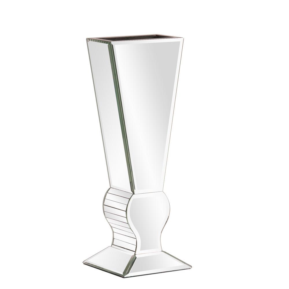 Small Mirrored ''V'' Shaped Decorative Vase