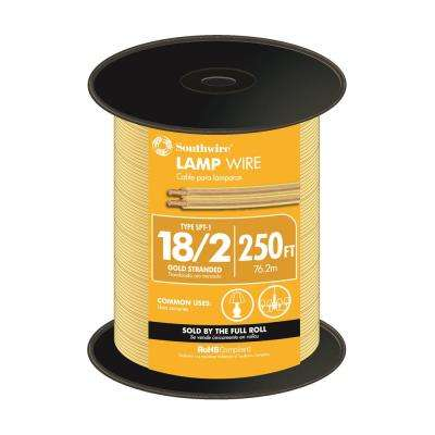 250 ft. 18/2 Gold Stranded CU SPT-1 Lamp Wire