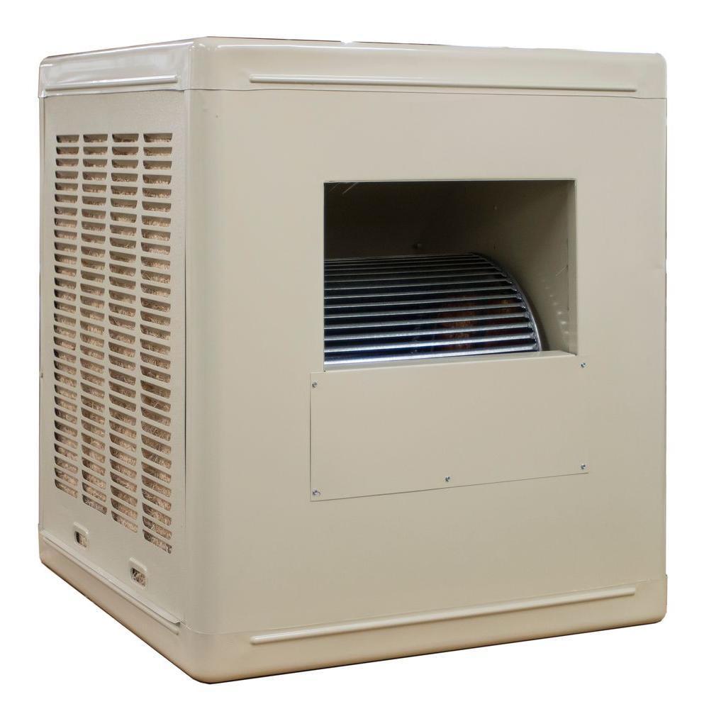 Hessaire 6 800 Cfm 115v Side Draft Aspen Roof Side Evap Cooler Swamp Cooler For 20 In Ducts 2 400 Sq Ft Motor