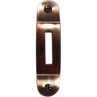 Wired Lighted Decorator Button for Prime Chime - Brushed Copper