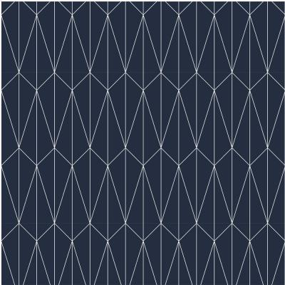 Debut Collection Long Lines in Navy/White Removable and Repositionable Wallpaper