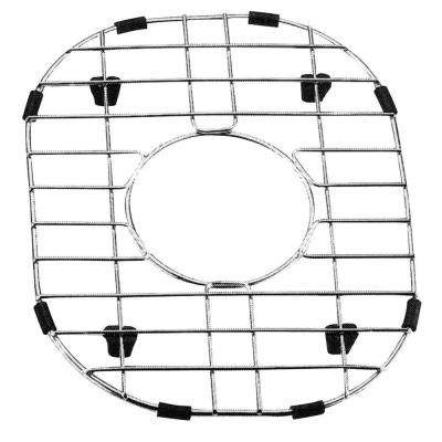 9 in. x 11.5 in. Stainless Steel Sink Grid with Black Rubber Feet