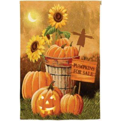 2 ft. x 4 ft. Regular Sub Suede Pumpkin Patch for Sale Flag