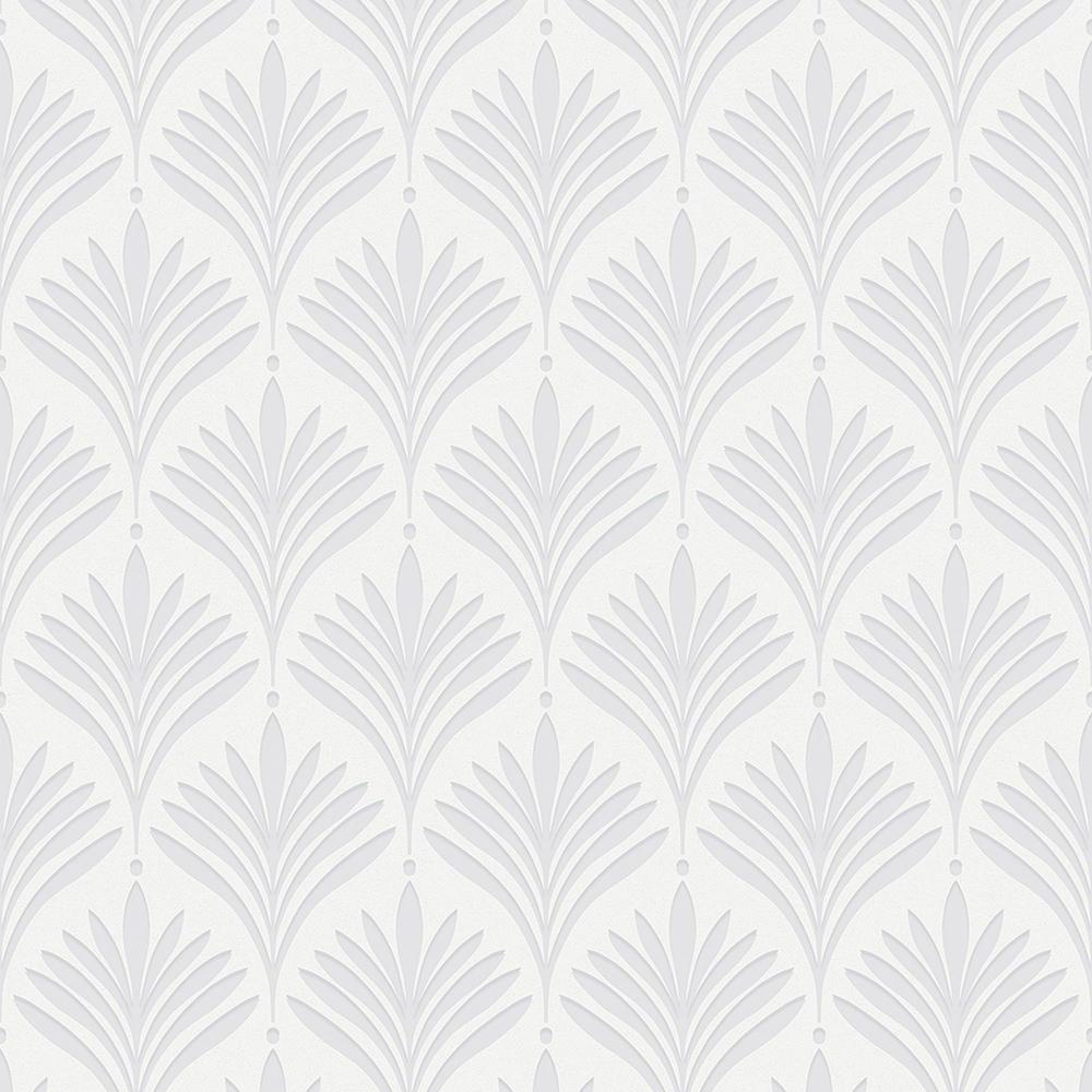 Bonnie Geo White Removable Wallpaper
