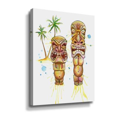 'Freaky Tiki' by  Sam nagel Canvas Wall Art