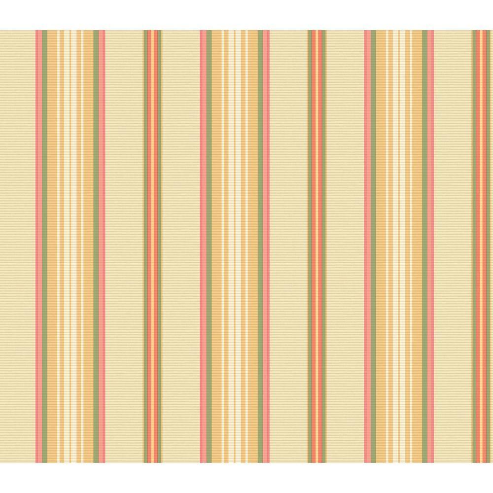 The Wallpaper Company 56 sq. ft. Multicolored Florence Stripe Wallpaper