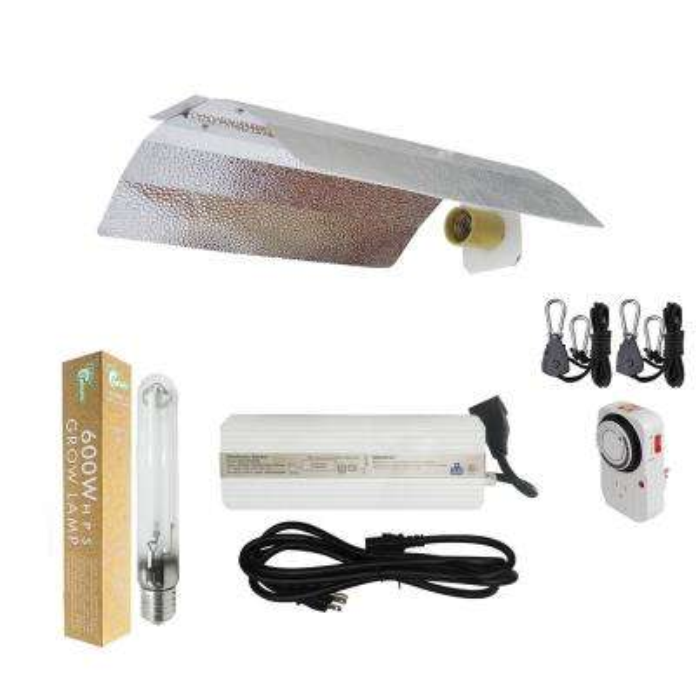 600-Watt HPS Grow Light System with Basic Wing Reflector