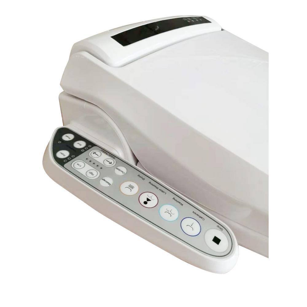 7.3 in. Electric Smart Toilet Seat Bidet Attachment in White