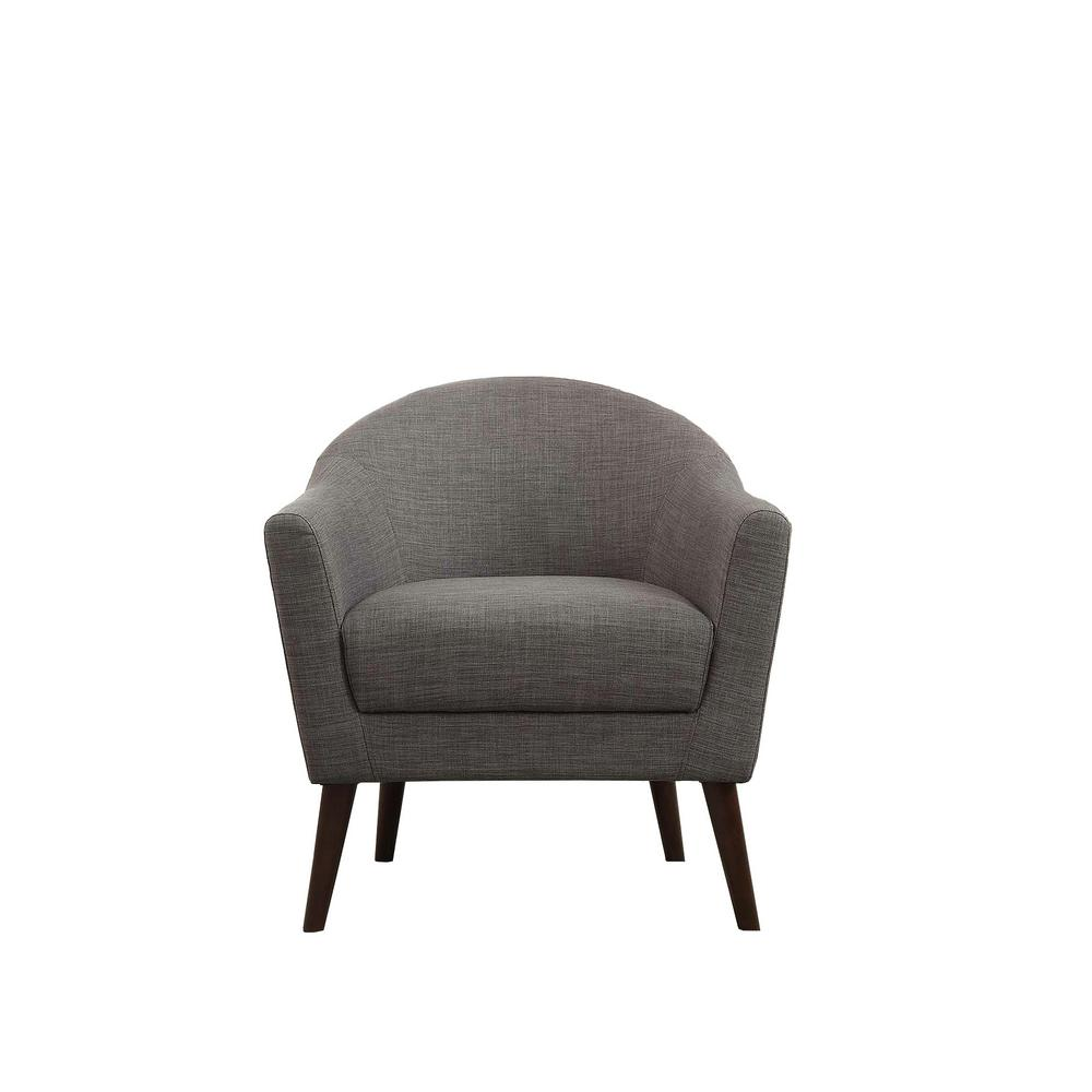 Amari Gray Linen Accent Chair