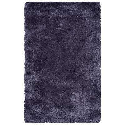 Commons Charcoal Polyester Shag 8 ft. x 10 ft. Area Rug