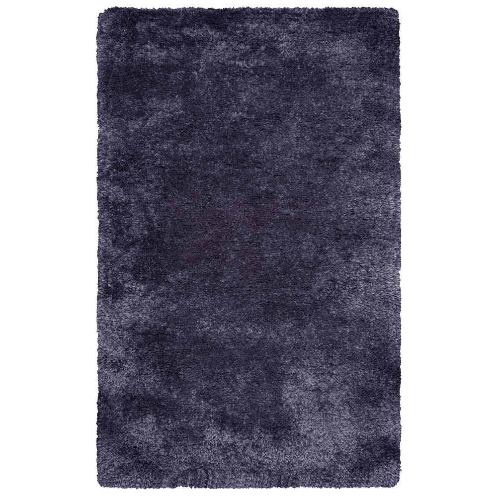 Commons Charcoal Polyester Shag 9 ft. x 12 ft. Area Rug
